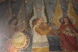 CMSI No.-007-2.5 - Angels playing a Trumpet  and Framed Drum