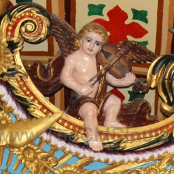 CMSI No.-007-1.9 - Angel playing a Violin Right side of Altar