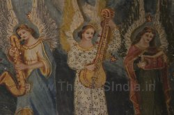CMSI No.-007-2.2 - Angels With a Saxophone, Vertical Veena and singing from notation book
