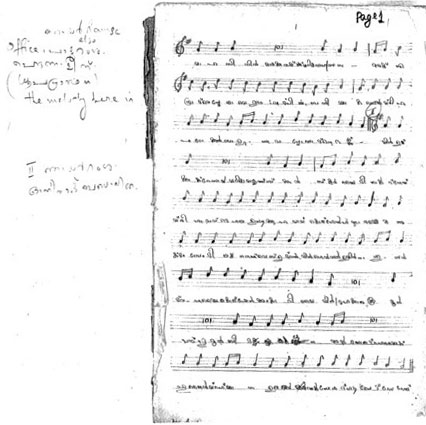 manuscript of syriac chants in staff notation